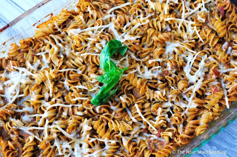 baked-pesto-mostaccioli-recipe