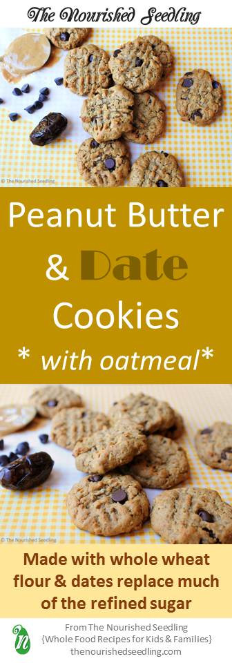 date and peanut butter cookies