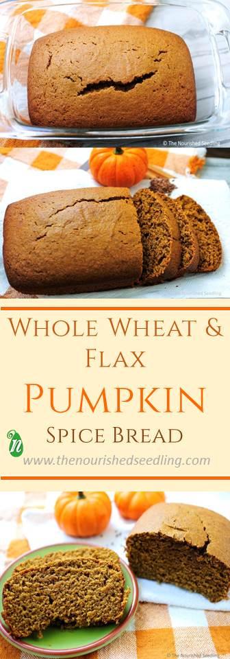 healthy pumpkin spice bread