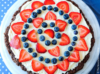 Gluten Free Coconut and Oatmeal Chocolate Fruit Pizza