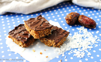 Date, Peanut Butter and Coconut Oat Bars