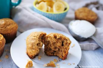Greek Yogurt and Banana Oat Muffins
