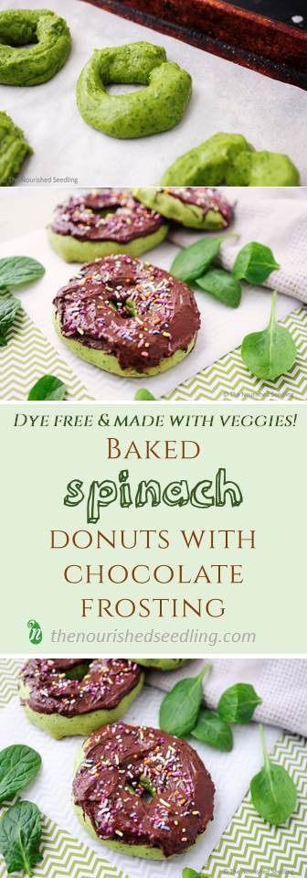 baked-spinach-doughnuts-with-chocolate-frosting