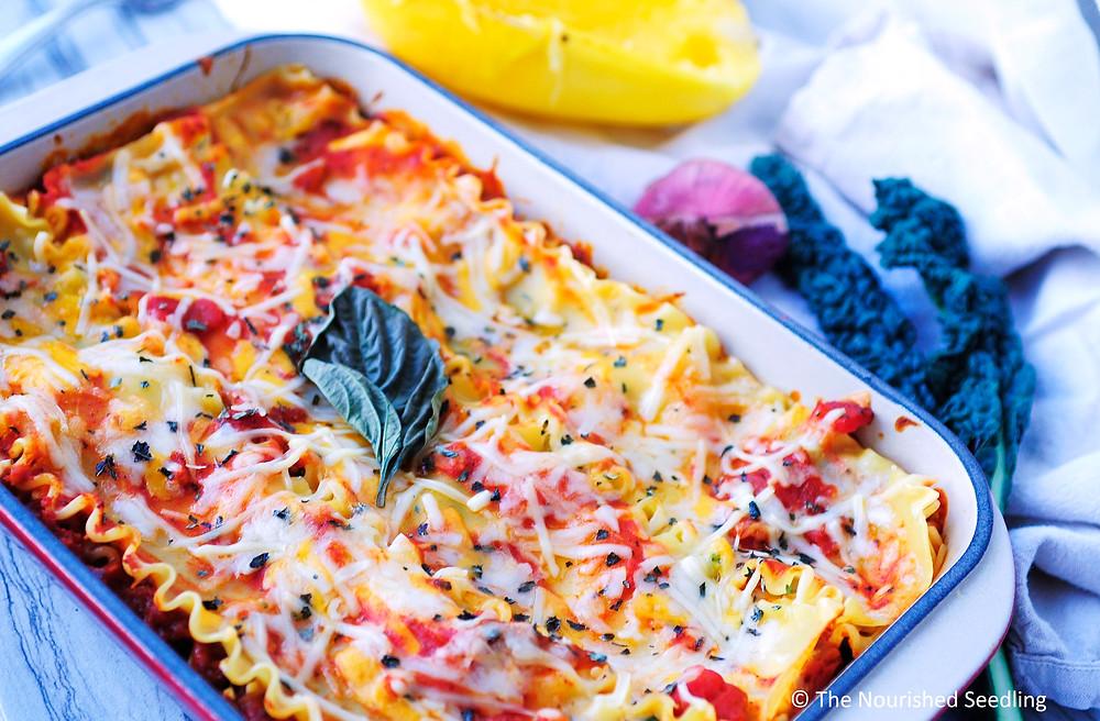 spaghetti squash and kale lasagna