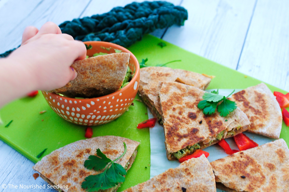 healthy-kale-and-red-pepper-chicken-quesadillas