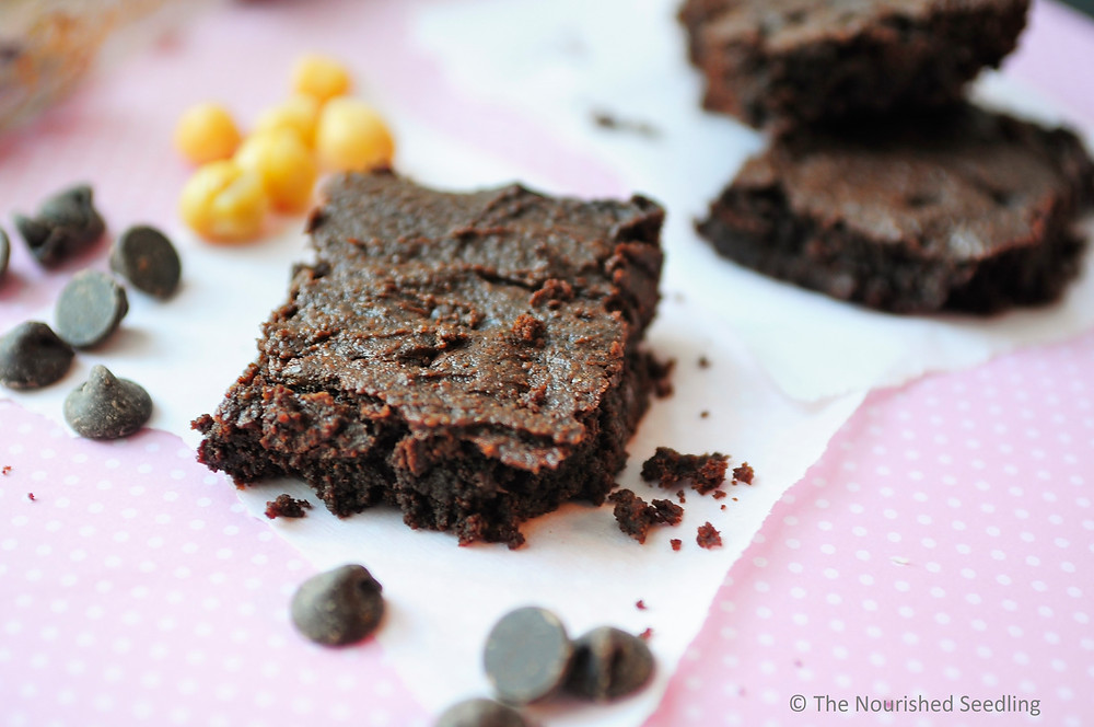 vegan gluten free chickpea brownies