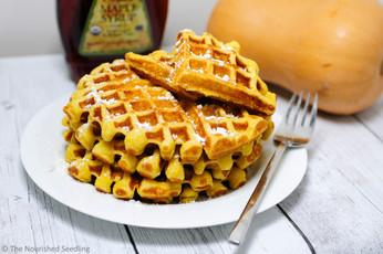 Whole Wheat Butternut Squash Waffles