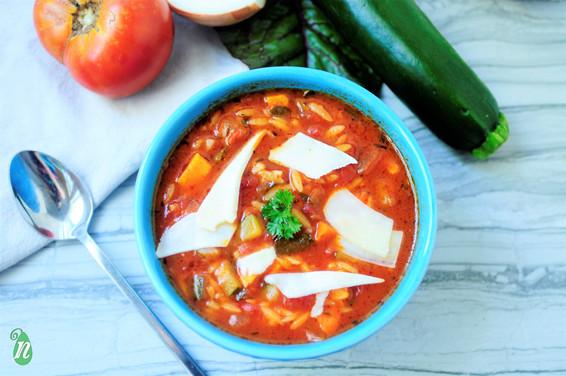 Healthy Vegetable Orzo Soup