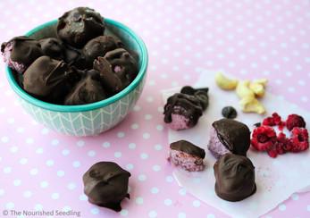 Chocolate Covered Raspberry and Cashew Truffles