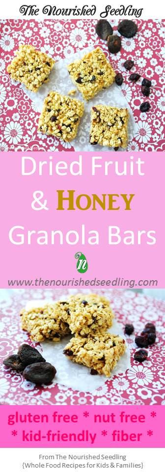 healthy nut free granola bars