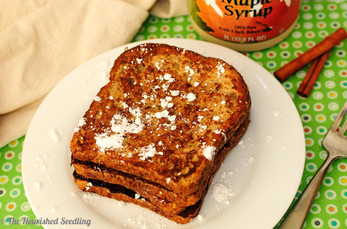 Coconut Milk and Cinnamon Sprouted Grain French Toast