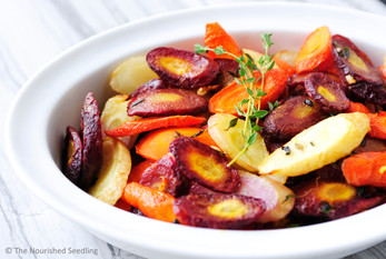 Thyme and Garlic Roasted Carrots