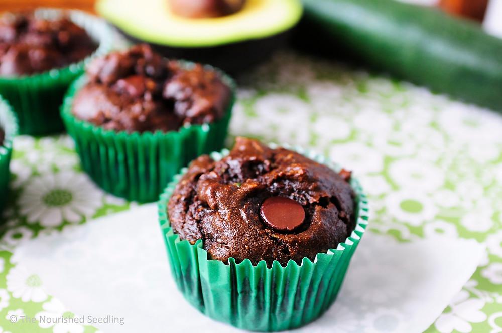healthy-chocolate-zucchini-avocado-muffins