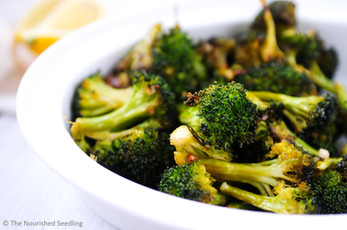 Garlic and Lemon Roasted Broccoli