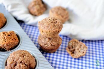 Gluten Free Teff and Banana Mini Muffins