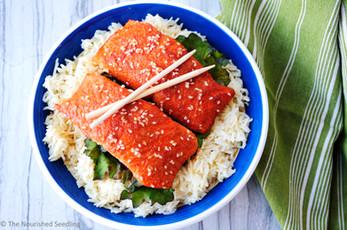 Maple and Tamari Glazed Salmon