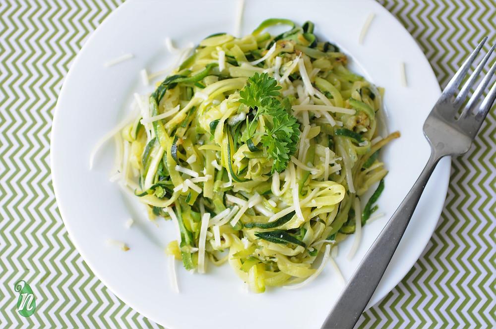 parmesan zucchini zoodles