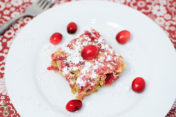 Coconut & Cranberry Cake