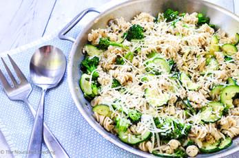 Broccoli and Zucchini Pasta Skillet