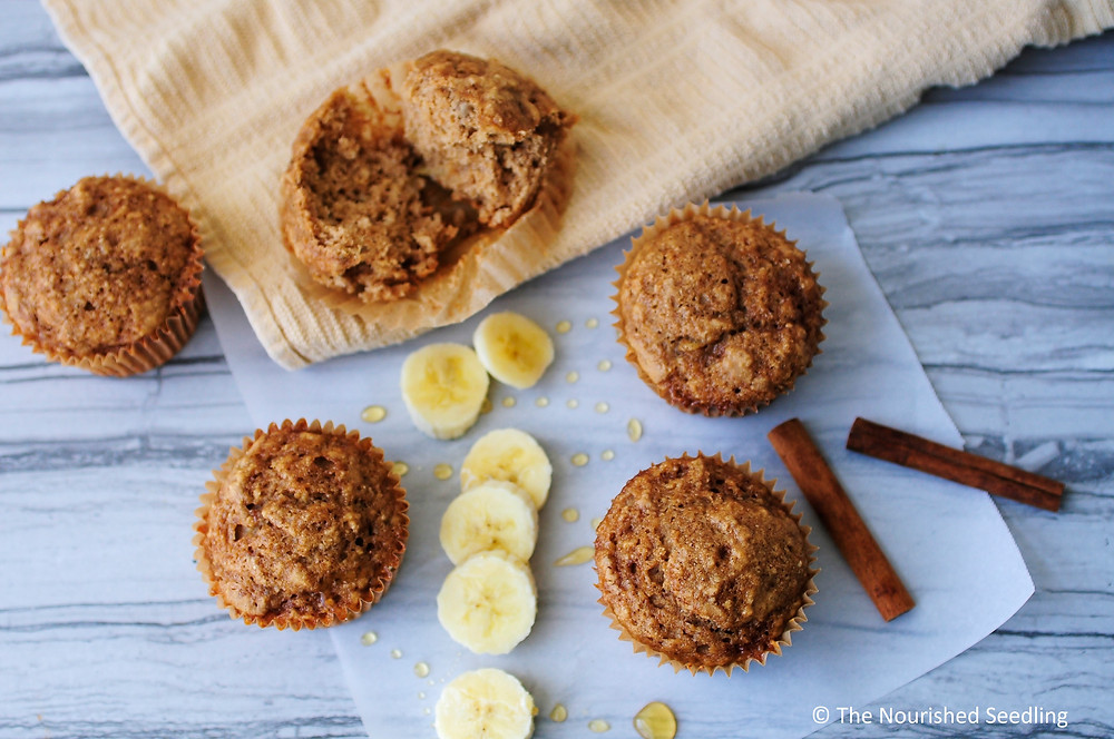 healthy-honey-and-banana-oat-muffins