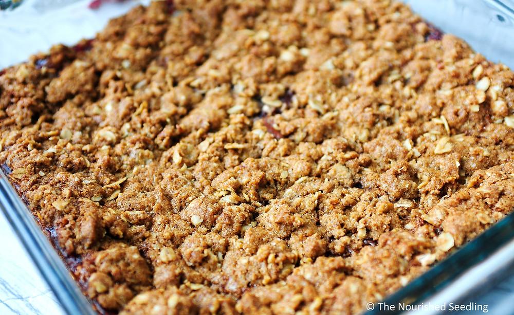 raspberry jam and oatmeal bars