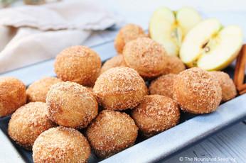 Gluten Free Apple Cinnamon Oat Doughnut Bites