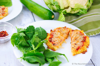 Cauliflower and Zucchini Mini Pizzas
