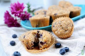 No Refined Sugar Blueberry Banana Muffins