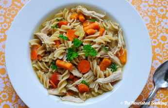 Wholesome Chicken Noodle Soup (with Sweet Potato)