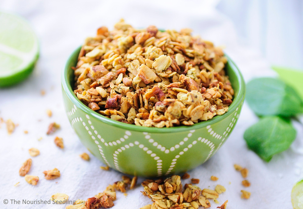 healthy spinach granola
