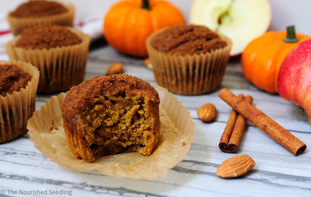 apple almond pumpkin muffins