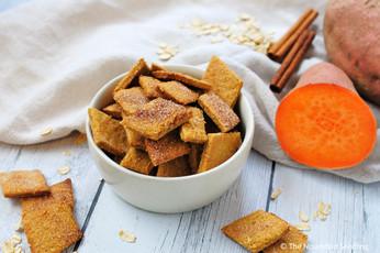 Cinnamon Sweet Potato and Oat Crackers