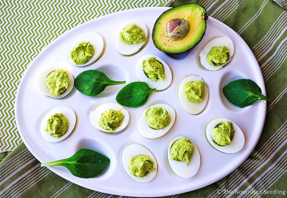 healthy-spinach-and-avocado-deviled-eggs