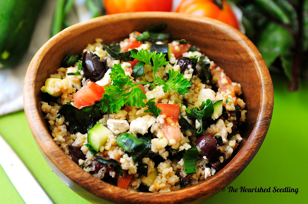 garden millet salad