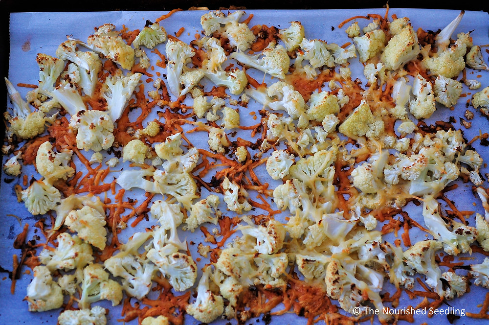 easy roasted parmesan cauliflower