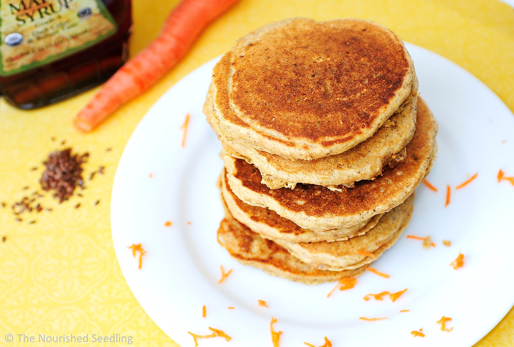 whole wheat carrot pancakes
