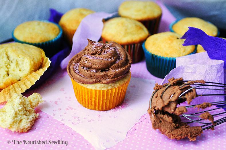 healthy gluten free vanilla cupcake