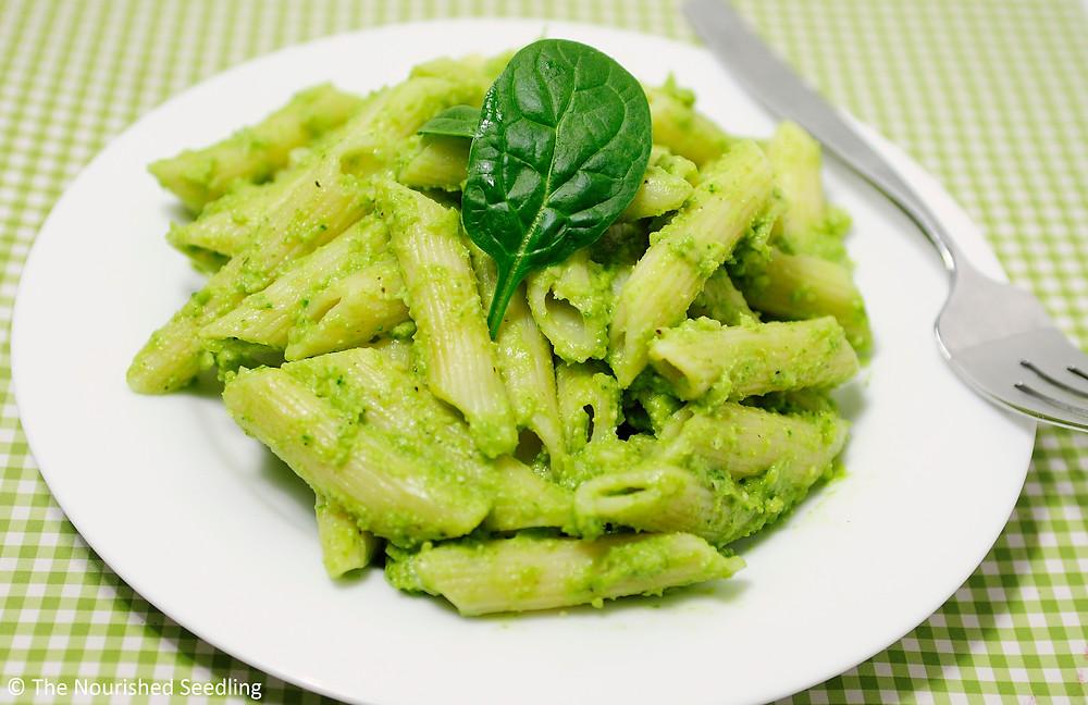 avocado spinach pesto pasta