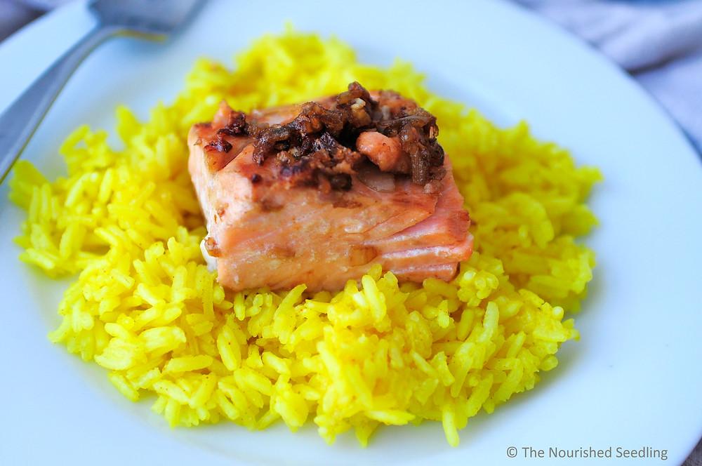 shallot pan seared salmon
