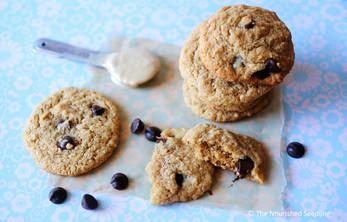 Gluten Free Tahini Chocolate Chip Cookies