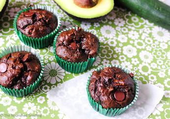 Double Chocolate Zucchini and Avocado Muffins