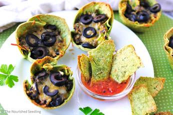 Black Bean and Veggie Burrito Cups