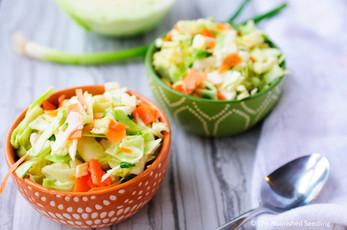 Sesame Cabbage Crunch Salad