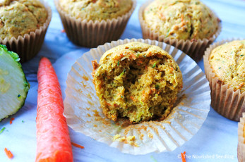 Whole Wheat Zucchini and Carrot Muffins