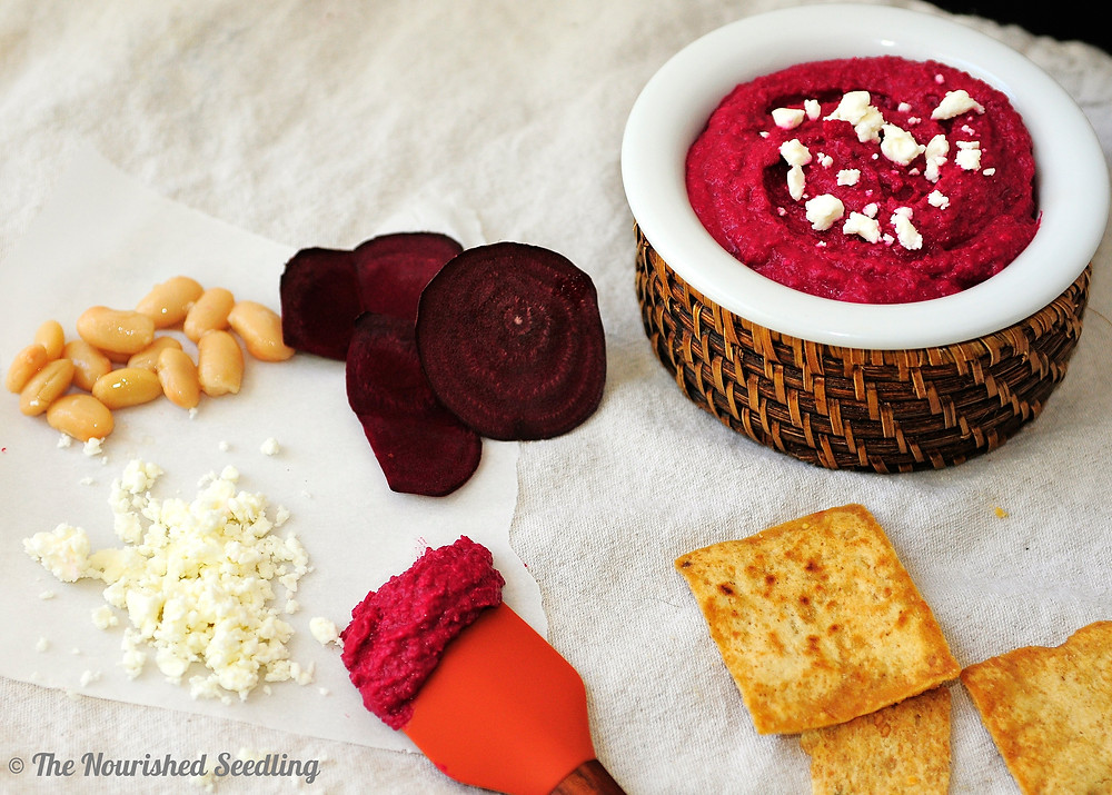 healthy-roasted-beet-white-bean-and-feta-dip