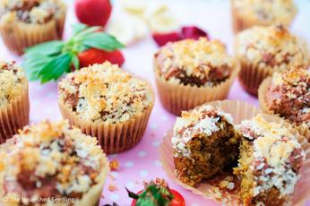 Strawberry, Beet and Banana Muffins