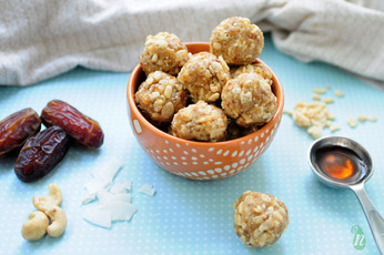 Crispy Rice and Coconut Date Bites