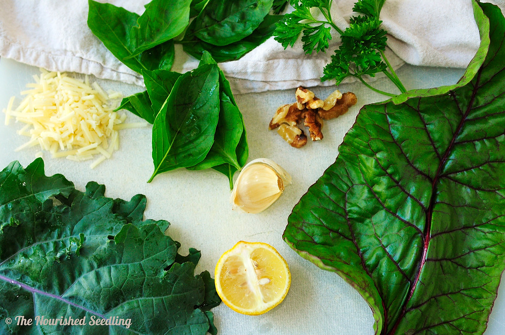 kale-basil-parsely-pesto