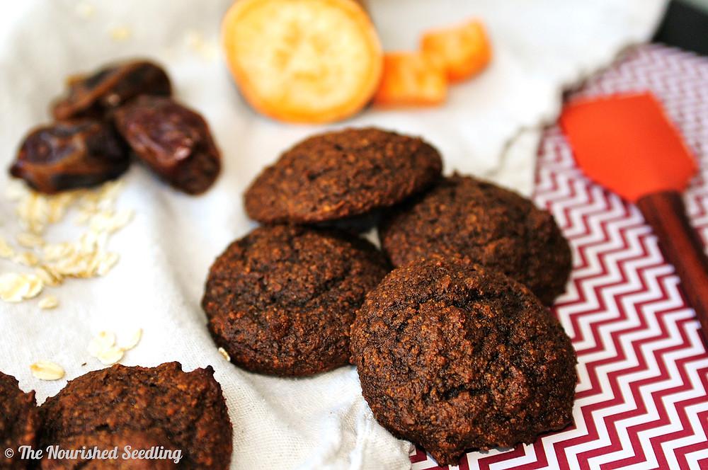 gluten free sweet potato date cookies