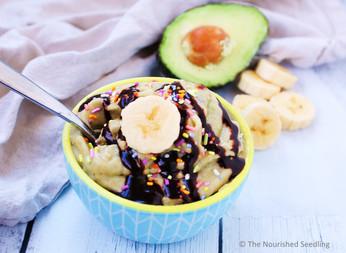 """Banana and Avocado Ice """"Cream"""""""
